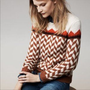 Madewell Chevron Wool Alpaca Ski Sweater